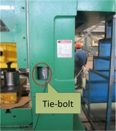 Positions where strain foils are fixed
