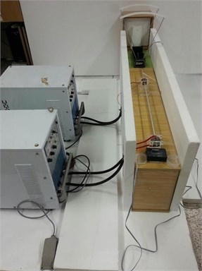 Configuration of experimental system for testing