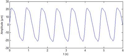 Simulation signal of hydropower unit vibration