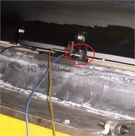 Measuring point at generator and turbine guide bearings