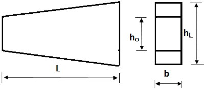 Tapered Timoshenko beam  with linearly varying height (depth)