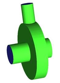 Geometric model of the centrifugal pump