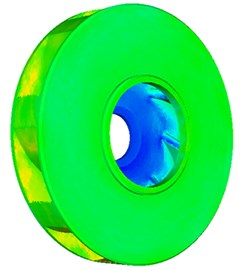 Contour of flow velocity distribution of the impeller