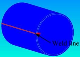 FEM modeling of the DH36 welded tube