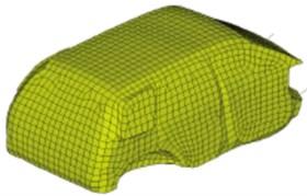 Boundary element model of the vehicle