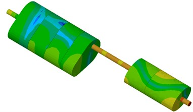 Comparison of contour for muffler system before and after optimization