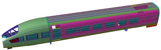 Geometric model of the high-speed transportation