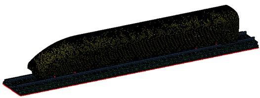 Calculation model of radiation noise for wheel-rail on the high-speed transportation surface