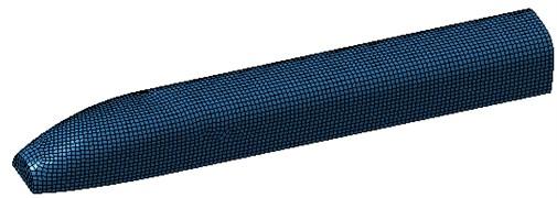 Interior sound cavity mesh model