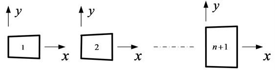 Model of each intact beam