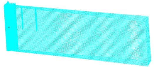 Modal analysis of a rectangular variable cross-section beam