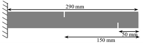 The location and depth of crack in the cantilever beam of steel and aluminum specimens