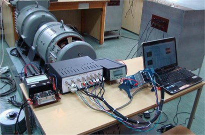 The system for measuring and evaluating the vibration condition of the machine under test  which is a subsystem of the diagnostic system  of parameter of the electrical machines