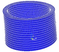 Numerical modelling of the cylindrical actuator