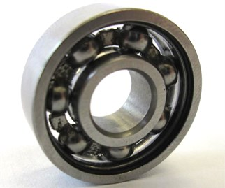 a) The deep groove ball bearing 608Z and b) its model [7]