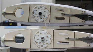 Fabricated demonstration wing section