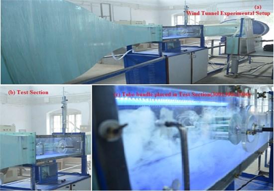 Wind tunnel test experimental setup