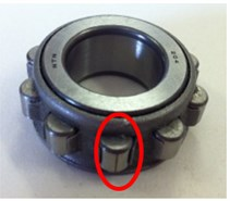 Defect types for roller bearing fault diagnosis test