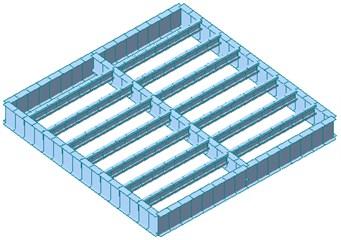 Finite element model of specimens