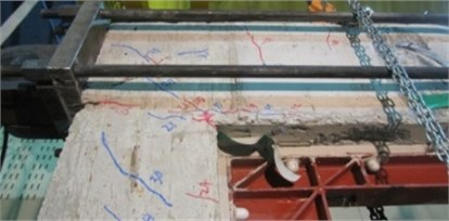 Crack patterns of the specimens