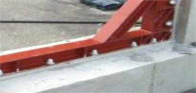 Installation of wide-flange shape steel beam frame to concrete frame