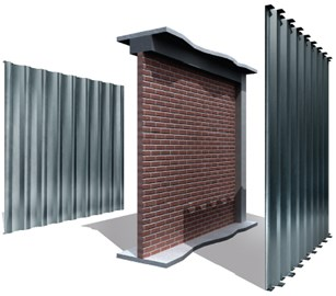 Waved steel panels