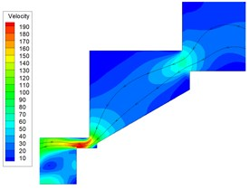 Two-phase flow simulated result for main poppet II