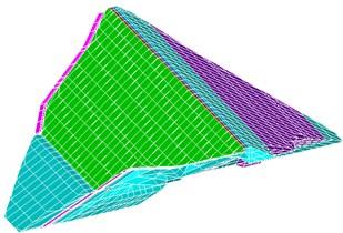 Three-dimensional FE mesh