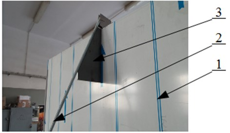 Angle position of the rod with the metal ball