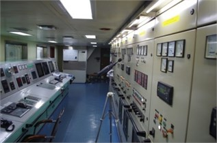 Schematic layout of the microphones inside the shipboard cabin