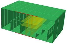 Calculation model of the shipboard cabin