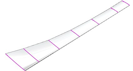 The three-dimension model of wind turbine blade
