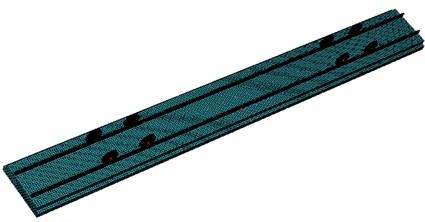 Finite element model of rail and sleeper
