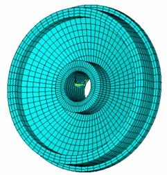 Wheel boundary element mesh