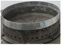 CLD rings coated in different positions of TCS