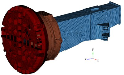 Finite element models of TBM main structures