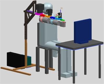 CAD model of ELISE robot for spastic  upper limb rehabilitation