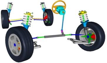 ADAMS 3D solid full car mode