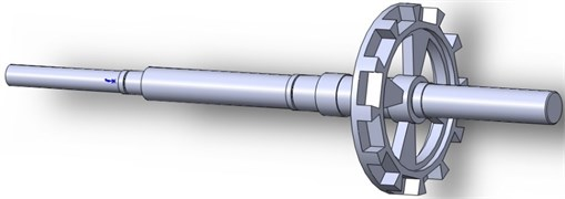 The 3D geometry model of the rotor