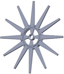 Three-dimensional structure  of the blades and the disc