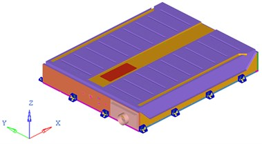 Global geometric model and inner structure model of the battery pack