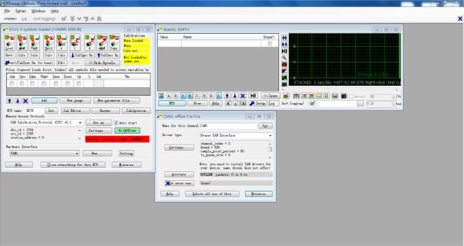 Pre-calibration interface