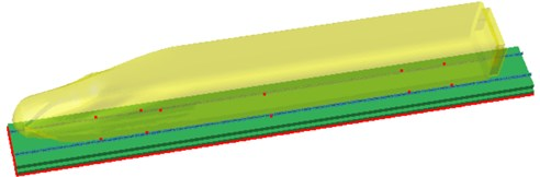 Computational model of radiation noises of rails