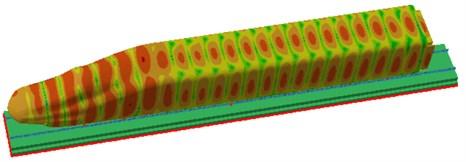 Sound pressure contours of radiation noises of rails