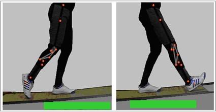 Start and end of ten  deg. ramp ascent motion