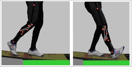 Start and end of fifteen  deg. ramp descent motion