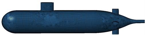 Boundary element meshes of submarine