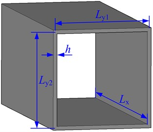 Geometry and notations of a box-type structure