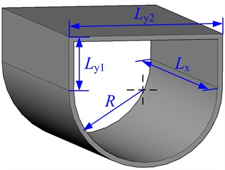 Geometry and notations  of a ship hull structure