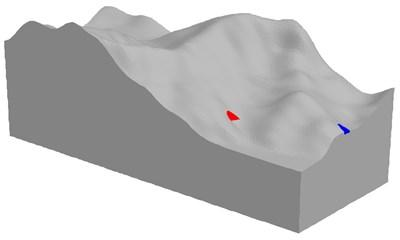 3D model in FLAC3D